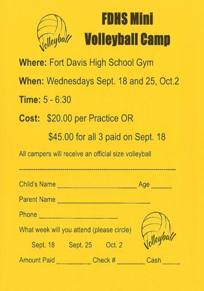 FDHS Hosts Mini Volleyball Camp