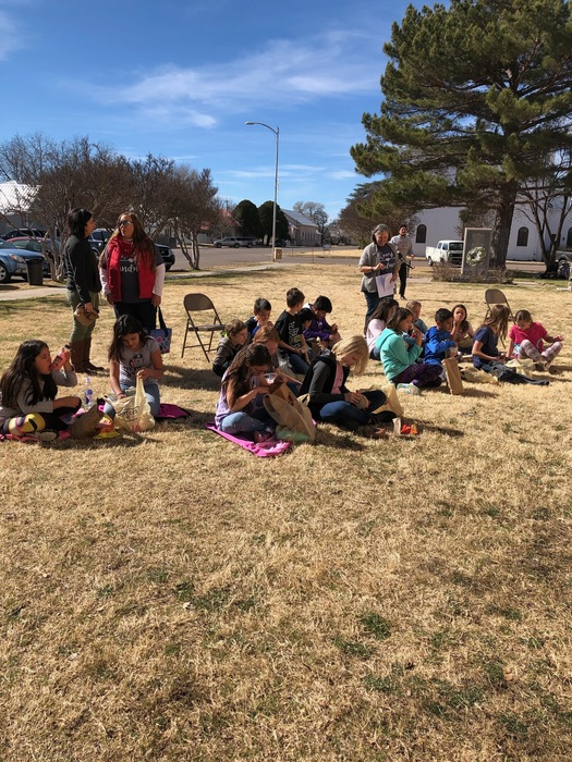 Mrs. Locke and Ms. Scott joined the students at MLK day in Marfa